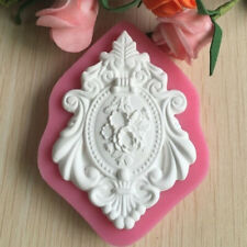 Qu_ 3D Embossment Silicone Mold Fondant Cake Chocolate Mould Decorating Baking T