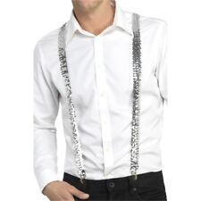 Sequin Braces - Adults Fancy Dress Costume Accessory Unisex Suspenders Gangster