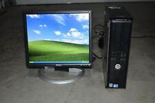 Dell Optiplex 755 Desktop + LCD Monitor Core2 Duo E8400 4GB Windows XP Pro 32Bit