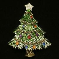 Avon Christmas Tree Pin 2008 Collectible Tree Pin Brooch Vintage NIB
