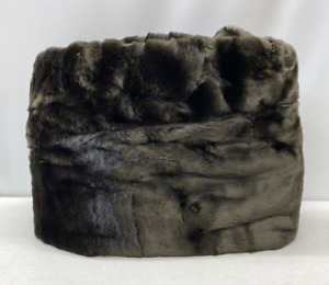 """NEW Pottery Barn TEEN Luxe Faux Fur LARGE 41"""" Beanbag Slipcover Cover~BROWN"""