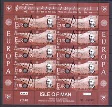 Isle of Man 1985 gestempelt Bogen-Satz MiNr. 278-281 Europäisches Jahr der Musik