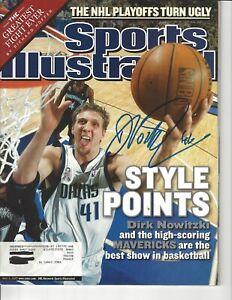 Dirk Nowitzki Signed Autographed Sports Illustrated Dallas Mavericks 2002
