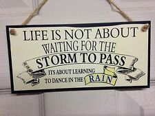 Friend Friendship Plaque Sign funny gift Home Storm to pass Dance in rain