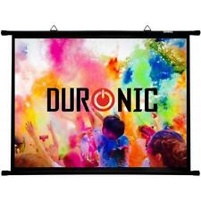 Duronic Projector Screen BPS80/43 Simple Bar Wall Mountable HD Projection Screen