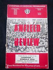 Orig.PRG   ICFC / UEFA Cup  1969/70   FC LIVERPOOL - FC DUNDALK  !!  SELTEN