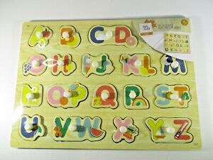 Kids & Co Learn Wooden ABC Peg Puzzle 18+mths Brand New in Plastic Wrap.