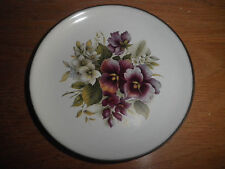 Vintage Hornsea England Pin Dish Violets Pansies Excellent Condition