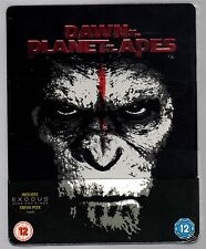 DAWN OF THE PLANET OF THE APES 3D/2D 2-DISC BLU-RAY STEELBOOK NEU OVP SEALED HMV