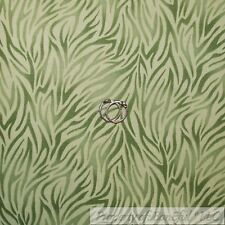 BonEful Fabric FQ Cotton Quilt Green Tone Tonal Jungle Safari Animal Zebra Print