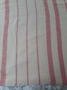 Ralph Lauren Vintage Carmel and Red Cotton Blanket TWIN 70x90