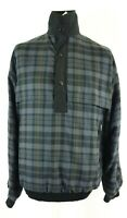 Vintage Sunderland of Scotland Mens Tartan Check Gore Tex Golf Jacket Size M