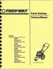 Troy Bilt 52027,52028,52029,52036,52048 Trimmer/Mower Parts Manual