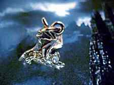 LOOK New Gothic Vampire Prince Dracula Bat Sterling silver .925 pendant charm Je