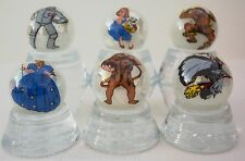 WIZARD OF OZ CHARACTER 6 PC. SET ON 1 INCH WHITE COLLECTOR MARBLES