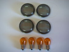 Bullet Indicator Smoke lens set Harley-Davidson V-Rod Indicators 02&later 505084