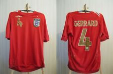 England national team #4 Gerrard 2006/2008 away Size S Umbro shirt jersey soccer