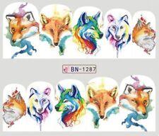 Nail Art Stickers Water Decals Transfers Mr Fox (BN1287)