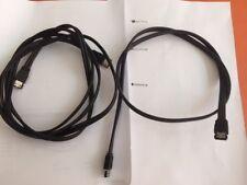 2 Cables  eSATA (Male-Male) 1M et 2M