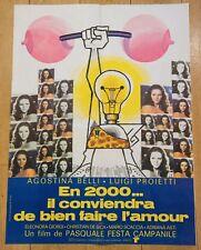 Affiche de cinéma 60x80 : EN 2000 IL CONVIENDRA DE BIEN FAIRE L'AMOUR  de CAMPAN