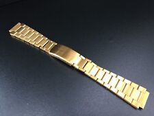 "CORREA/BRACELET WATCH GOLD PLATED TYPE OMEGA 18MM ""NEW OLD STOCK 1970"""