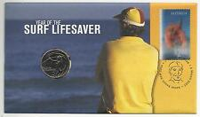2007 AUSTRALIA SURF LIFE SAVER - PNC - UNCIRCULATED 20c COIN - LENTICULAR STAMP