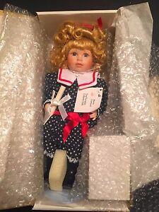 """Gabriela"" Marie Osmond Fine Porcelain Doll NIB w/ COA, Tag & Bracelet 1992"