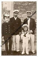 mm749 - King George V & cousin Czar Nicolas & sons as mariners -  Royalty photo