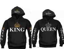 King & Queen Hooded Sweatshirt Couples King & Queen Hoodie Sweatshirt Hood Print