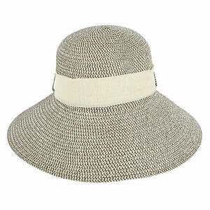 New Jacobson Hat Company Women's Straw Face Framer Sun Hat with Sash