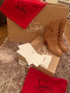 Genuine Christian Louboutin Karistrap boots Tan Limited Edition Size 5.5/38.5