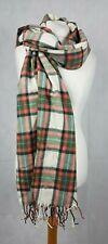 Johnnie B - Boden Checked Scarf Shawl - Soft - Ecru - 69033 SK097 AA 02