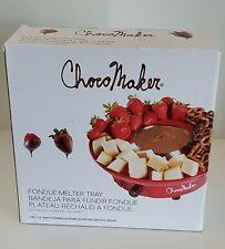 ChocoMaker Chocolate Fondue Set Electric Melter Dipping Dessert Tray New