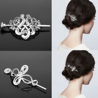 Fashion Celtic Knots Clip Hairpin Charm Alloy Hair Stick Women Hair Accessories