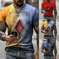 Tees Tops Sport T-Shirt Clothes Mens Polyester Short Sleeve Fashion New