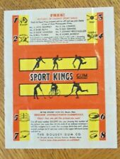 1933 SPORT KINGS WRAPPER - GOUDEY  GUM  BOSTON MA   REAL NICE SHAPE