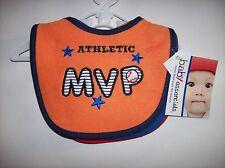 Baby Essentials Bib 5pc Baseball Set Baby Boys Girls 1 Size Assorted Colors NWT