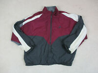VINTAGE Nike Jacket Adult Extra Large Red Gray Swoosh Spell Out Coat Mens 90s *