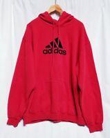 Adidas Mens XL Red / Black Hooded Sweatshirt Hoodie FLAW