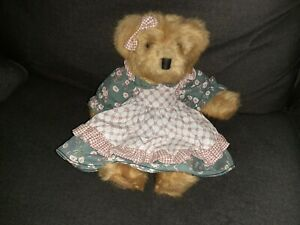 Russ Mulberry Bear Plush Wearing Dress