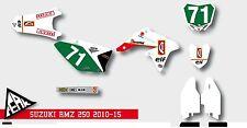 GRAFICHE SUZUKI RM RMZ 125 - 250 - 450  CHESTERFIELD  VINTAGE PERSONALIZZABILE