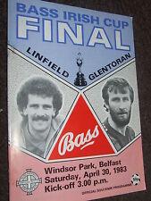 1981: Linfield Vs Glentoran Bass irlandés final de Copa de fútbol programa
