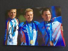 Vyacheslav jekimow & Jan Ullrich os 2000/1. +2. rueda signed foto 10x15 autógrafo