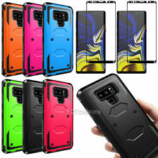 For Samsung Galaxy Note 9 Case Cover Shockproof Tempered Glass Screen Protector