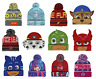 Boys Girls Kids Official Licensed PJ Masks Frozen Super Mario Etc Winter Hat
