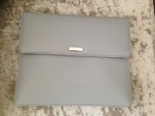 DULWICH Designs Grey Leather NOTTING HILL TEC POCKET I Pad Tablet Holder NEW