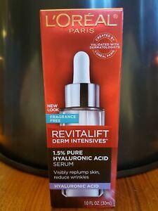 L'Oréal Paris Revitalift Derm Intensives 1.5% PURE HYALURONIC ACID Serum (NIB)