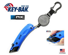 """Key-Bak MID6 Retractable 36"""" Polyester Key Holder With Safety PHC Box Cutter"""