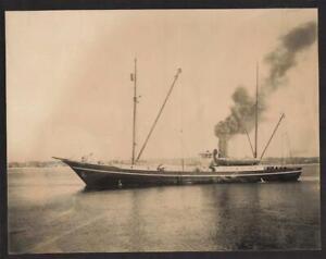 "7""x9"" ORIGINAL c1910 Photo SS ROOSEVELT SALVAGE SCHOONER ARBUCKLE's SHIP Steamer"