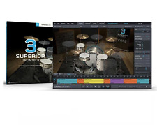 TOONTRACK TOON TRACK SUPERIOR DRUMMER 3.0 VIRTUAL DRUMMING SOFTWARE PC/MAC BOXED